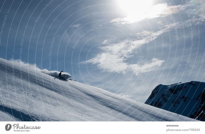 sun spray Lifestyle Joy Leisure and hobbies Vacation & Travel Freedom Expedition Winter Snow Winter vacation Winter sports Ski run Human being Masculine 1