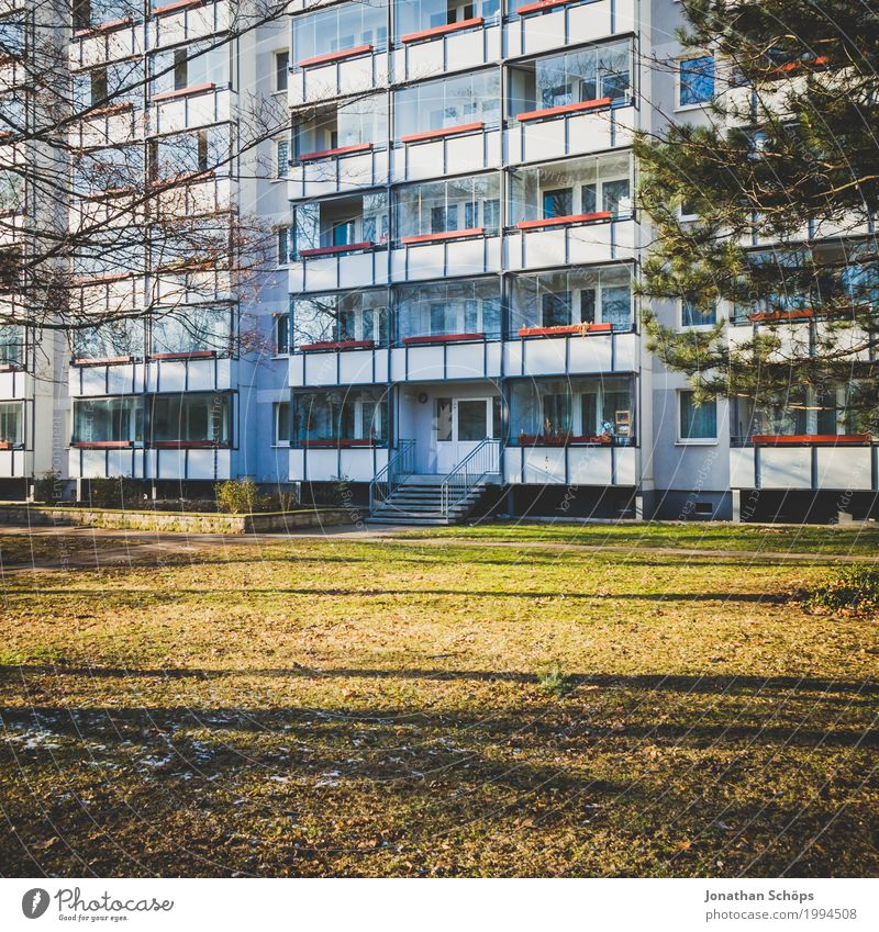 Town Green House (Residential Structure) Winter Architecture Cold Meadow Building Facade City life High-rise Manmade structures Capital city Balcony