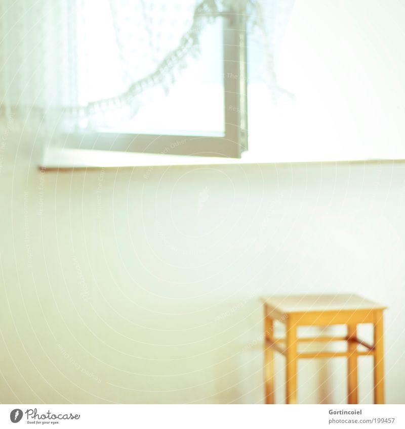 light Living or residing Flat (apartment) Room Window Bright White Light Summer Chair Stool Curtain Drape Open Window pane Lighting Undo Morning Ventilate