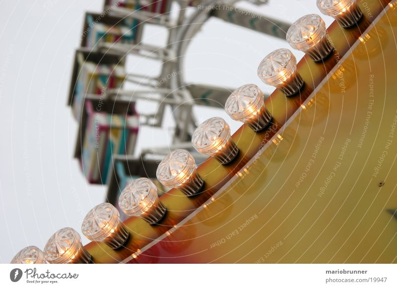 Bright Feasts & Celebrations Tall Level Leisure and hobbies Fairs & Carnivals Electric bulb Neon light Stuttgart Ferris wheel Showman Cannstatter Wasen