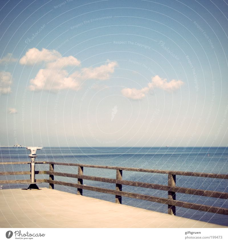 Water Sky Ocean Summer Vacation & Travel Clouds Far-off places Relaxation Freedom Landscape Coast Environment Horizon Trip Future