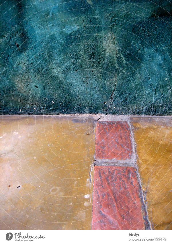 Organically beautiful Harmonious Interior design Art Stone Brick Stripe Esthetic Exceptional Blue Yellow Red Moody Symmetry Ground Floor covering Stone floor
