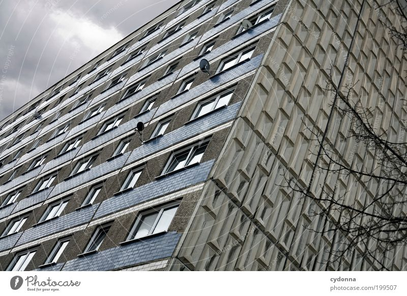 City House (Residential Structure) Loneliness Life Wall (building) Style Window Wall (barrier) Architecture Design Facade Lifestyle Perspective Network Retro