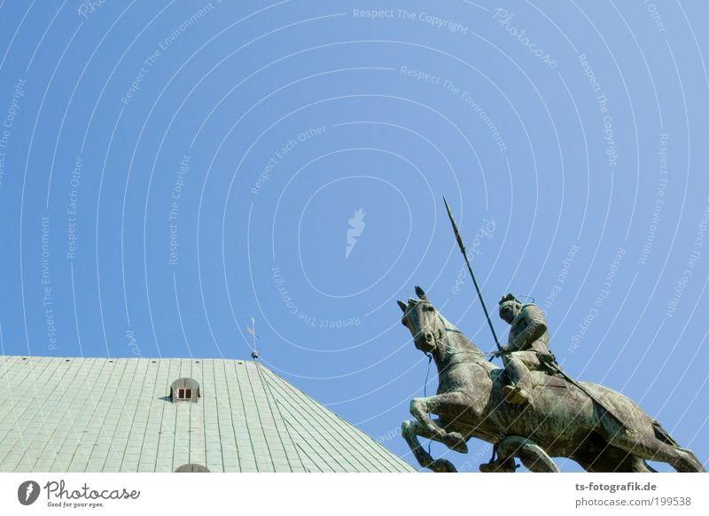 Animal Jump Movement Power Metal Horse Roof Statue Monument Past Rust Manmade structures Historic War Sculpture Landmark