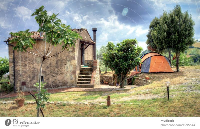 Tent on a farm in Tuscany, Italy Vacation & Travel Tourism Summer Winter Snow House (Residential Structure) Landscape Sky Tree Building Architecture Wood Old