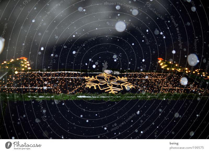 Christmas & Advent Snowfall Ice Frost Night sky Sign Snowflake Christmas decoration Christmas star Christmas Fair