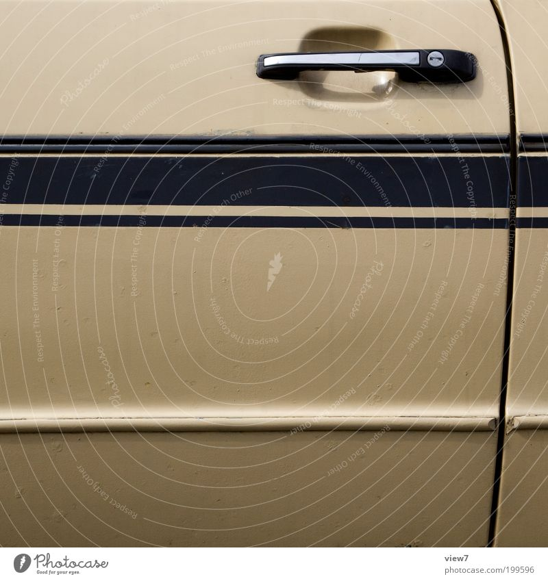 Old Car Line Brown Metal Design Elegant Authentic Simple Car door Stripe Racing sports Vehicle Door handle Carriage
