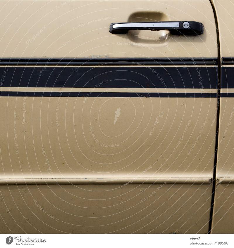 Old Car Line Brown Metal Design Elegant Authentic Simple Car door Stripe Racing sports Vehicle Door handle Carriage