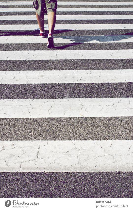 Traffic. Human being Masculine 1 Transport Pedestrian Zebra crossing Striped Linearity Beginning Career Academic studies Lanes & trails Potential Forwards