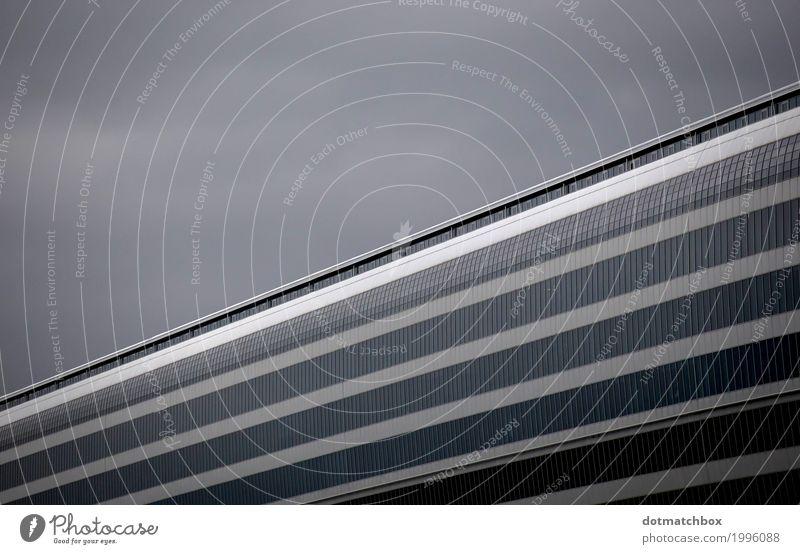 Black Architecture Building Business Gray Facade Aviation Logistics Manmade structures Airport Frankfurt Symmetry Glas facade Rhein-Main area