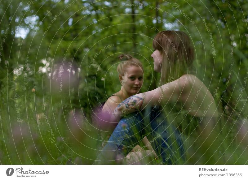 Alexa and Carina in the park. Style Leisure and hobbies Vacation & Travel Trip Human being Feminine Young woman Youth (Young adults) Woman Adults 2