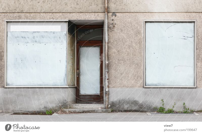 Old House (Residential Structure) Far-off places Window Line Door Facade Closed Authentic Simple Change Transience Stripe Longing Store premises Services