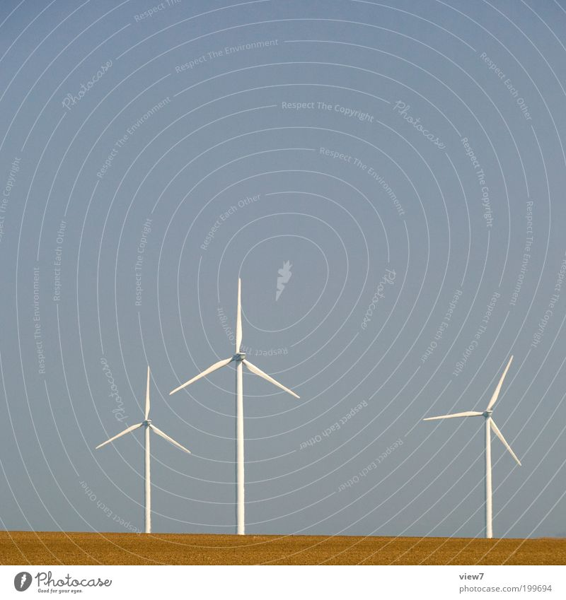 windmills Machinery Energy industry Renewable energy Wind energy plant Sky Climate Beautiful weather Industrial plant Esthetic Authentic Thin Simple Cold Modern