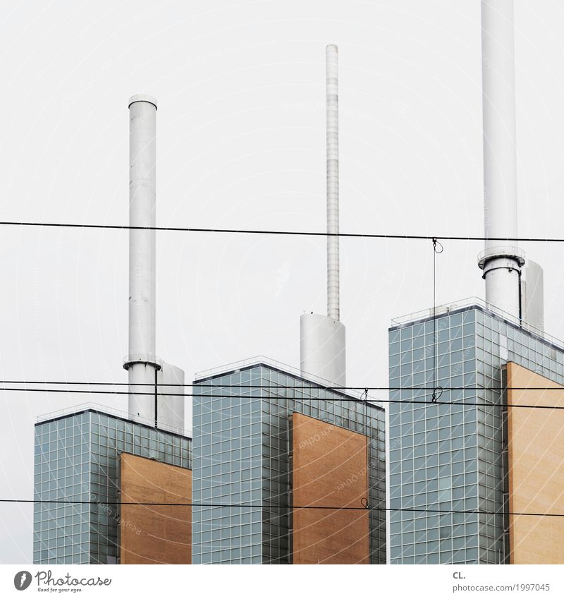 linden cogeneration plant Factory Economy Industry Energy industry Thermal power station Hannover Industrial plant Manmade structures Architecture Chimney