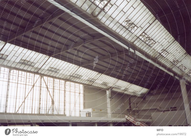 Exhibition hall / roof construction Roof Construction Crossbeam Architecture Industrial Photography