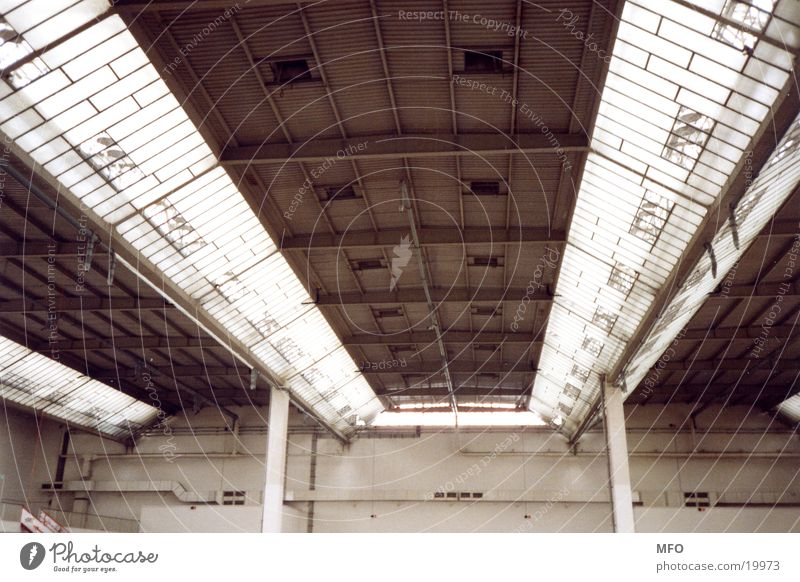 Architecture Industrial Photography Roof Construction Exhibition hall Crossbeam