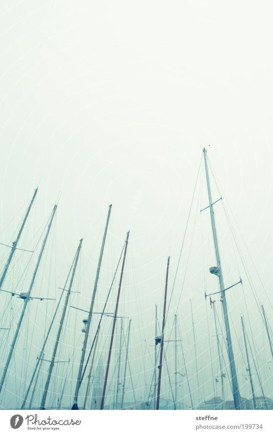 Calm Italy Jetty Navigation Sailboat Venice Haze Mast Yacht Fishing boat Yacht harbour Campanile San Marco