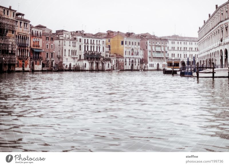 Water Beautiful City Calm Watercraft Elegant River Italy Uniqueness Navigation Downtown Venice Old town Palace Gondola (Boat) Majestic