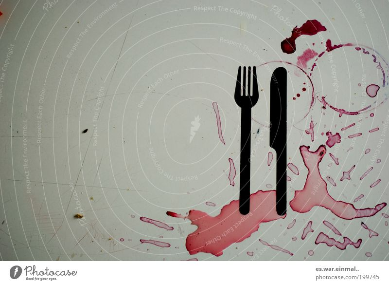 Red Living or residing Dirty Circle Kitchen Wine Graphic Appetite Chaos Patch Alcoholic drinks Trashy Craft (trade) Food Addiction Knives