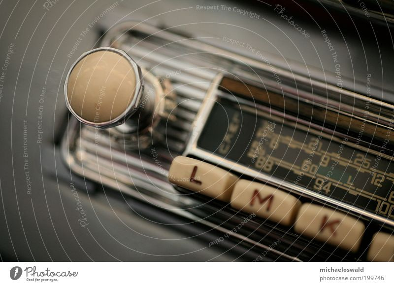 Car Metal Esthetic Listening Radio (device) Rotate Silver Nostalgia Beige Vintage car Electrical equipment Macro (Extreme close-up) Radio frequency interference