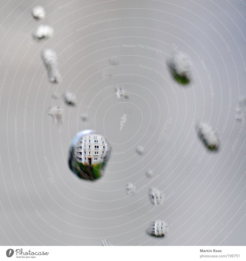 House (Residential Structure) Window Dream Earth Rain Weather Glass Wet Drops of water Cleaning Sphere Bubble Patch Inject Lens Financial Industry