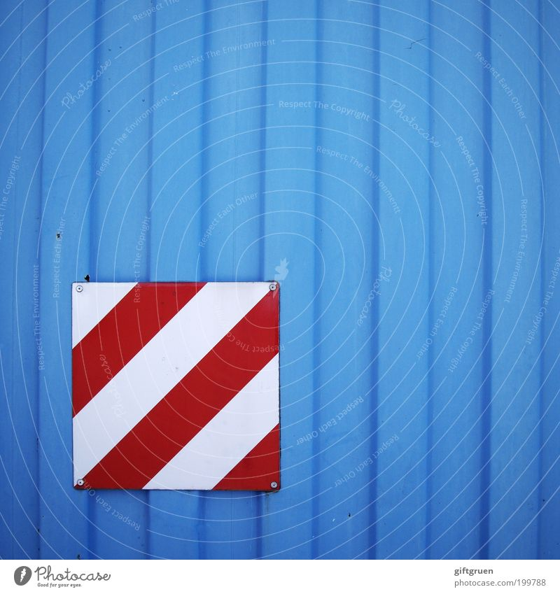 White Blue Red Signs and labeling Stripe Signage Diagonal Warning label Container Vertical Striped Clue Distinctive