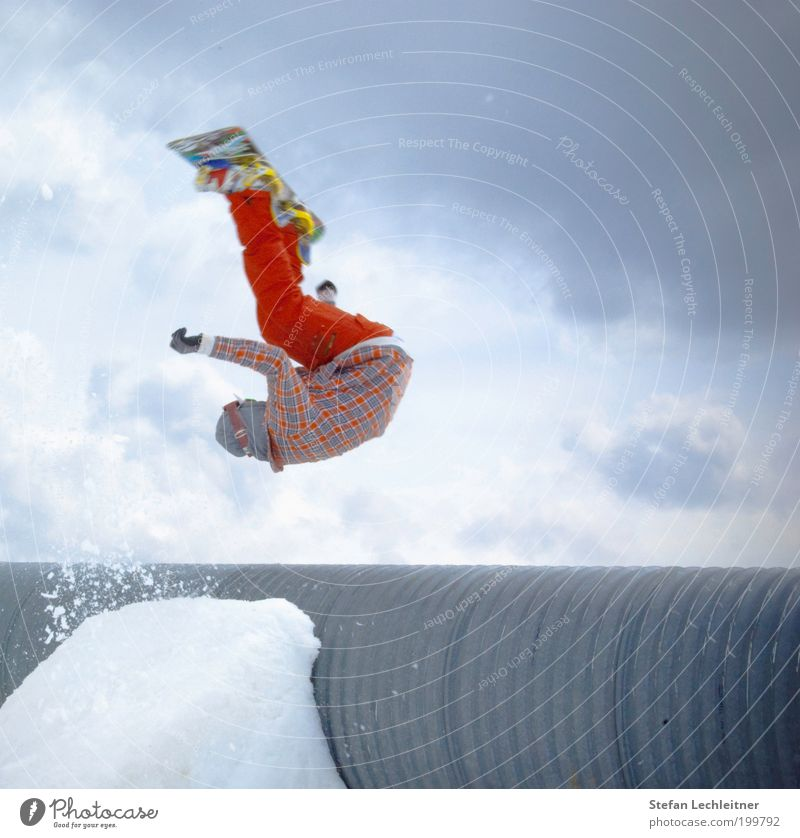 Sky Blue Red Clouds Sports Lifestyle Exceptional Flying Jump Tourism Body Speed Brave Pipe Hover Snowboard