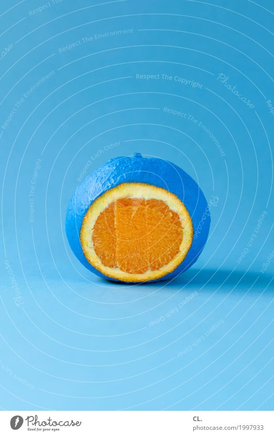 colour food Food Fruit Orange Nutrition Healthy Eating Art Work of art Paints and varnish Esthetic Exceptional Uniqueness Delicious Round Juicy Crazy Blue