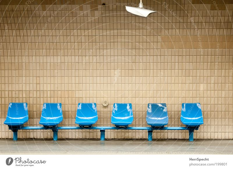 City Blue Wall (building) Background picture Wall (barrier) Brown Transport Gloomy Empty Wait Manmade structures Train station Tile Paris Seating Underground