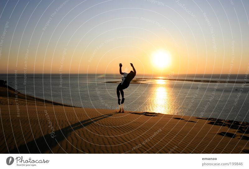 summer somersault Lifestyle Joy Leisure and hobbies Vacation & Travel Tourism Adventure Freedom Summer Summer vacation Sun Beach Ocean Human being Masculine