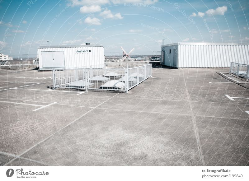 White City Loneliness Wall (building) Gray Wall (barrier) Horizon Facade Signs and labeling Concrete Places Transport Empty Perspective Roof