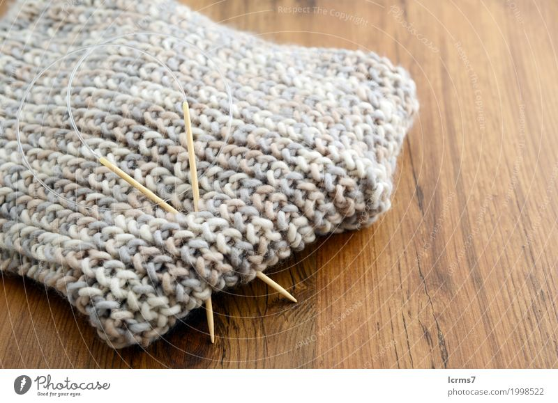 knitting scarf with wool Leisure and hobbies Warmth Fashion Wool Knit Scarf Creativity creased yarn handmade needle The Needles Background picture woolen thread