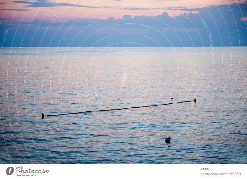Water Sky Ocean Blue Summer Black Clouds Line Coast Pink Weather Rope Horizon