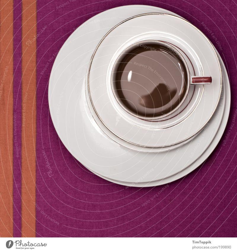 White Line Orange Table Circle Beverage Coffee Break Violet Decoration Stripe Crockery Cup Still Life Plate Geometry
