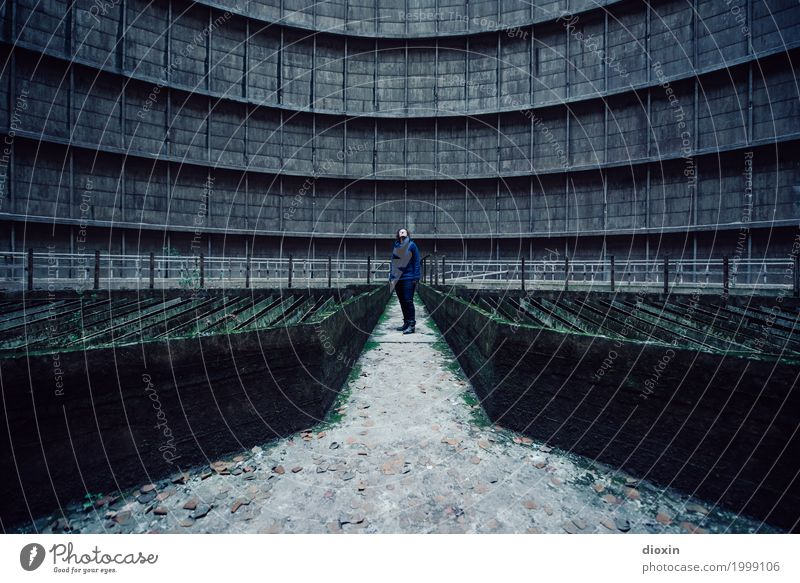 Inside the cooling tower [15] Adventure Energy industry Nuclear Power Plant Coal power station Energy crisis Industry Human being Feminine Young woman