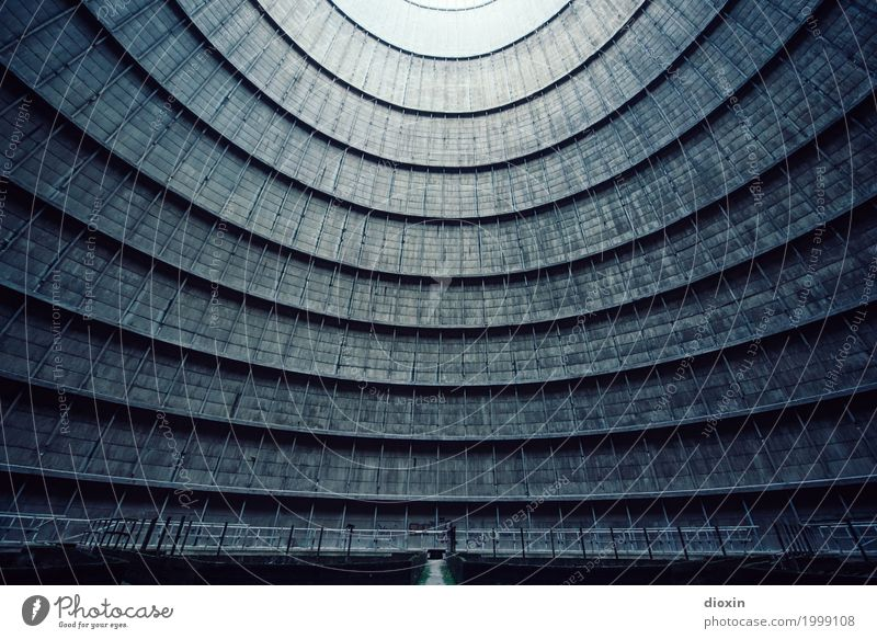 inside the cooling tower [10] Energy industry Nuclear Power Plant Coal power station Industry Deserted Tower Manmade structures Building Architecture
