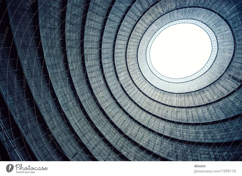 inside the cooling tower [5] Energy industry Nuclear Power Plant Coal power station Industry Deserted Industrial plant Factory Tower Manmade structures Building