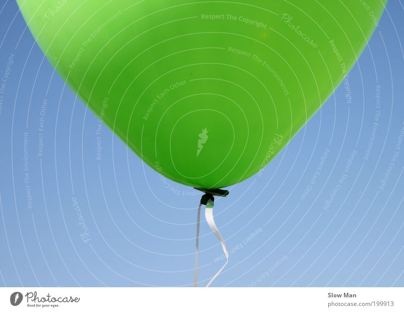 Sky Blue Green Summer Joy Playing Happy Air Infancy Feasts & Celebrations Flying Free Happiness Balloon To hold on String