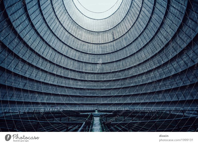 inside the cooling tower [1] Energy industry Coal power station Manmade structures Architecture Cooling tower Exceptional Cool (slang) Gigantic Tall