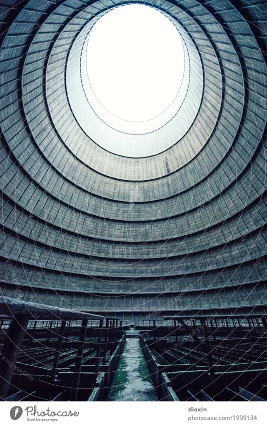 inside the cooling tower [6] Energy industry Nuclear Power Plant Coal power station Industry Deserted Industrial plant Factory Tower Manmade structures Building