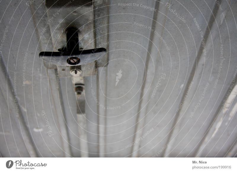 Old Gray Door Closed Simple Gate Door handle Garage Barn Pull Tin Pushing Undo Door lock Lever Garage door