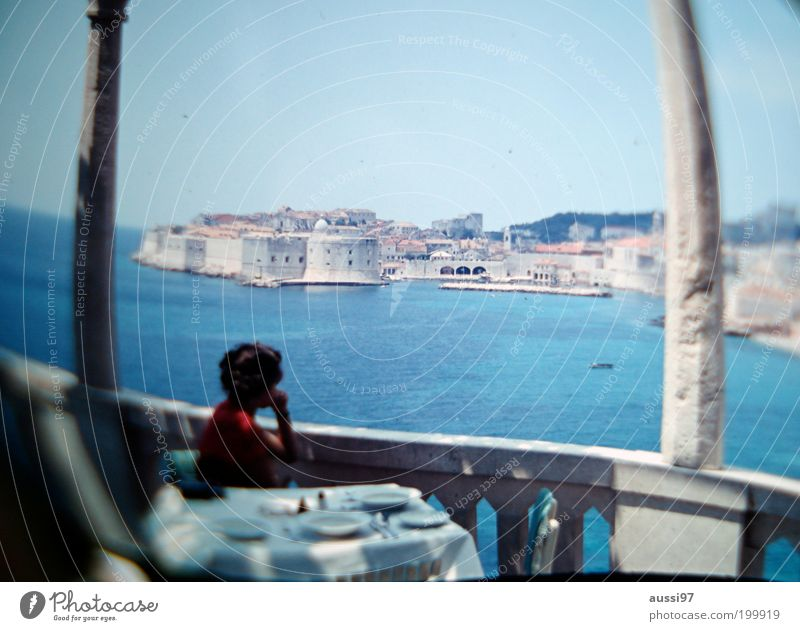 City Dream Coast Vantage point Bar Italy Café Terrace Column Sightseeing Distorted Port City Vacation photo