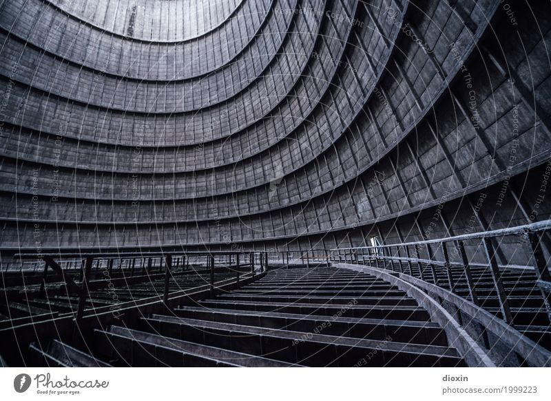 inside the cooling tower [4] Energy industry Coal power station Industry Industrial plant Factory Manmade structures Building Architecture Cooling tower Old
