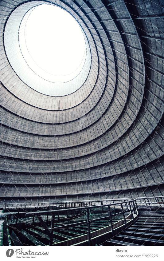 inside the cooling tower [9] Energy industry Nuclear Power Plant Coal power station Industry Deserted Tower Manmade structures Building Architecture