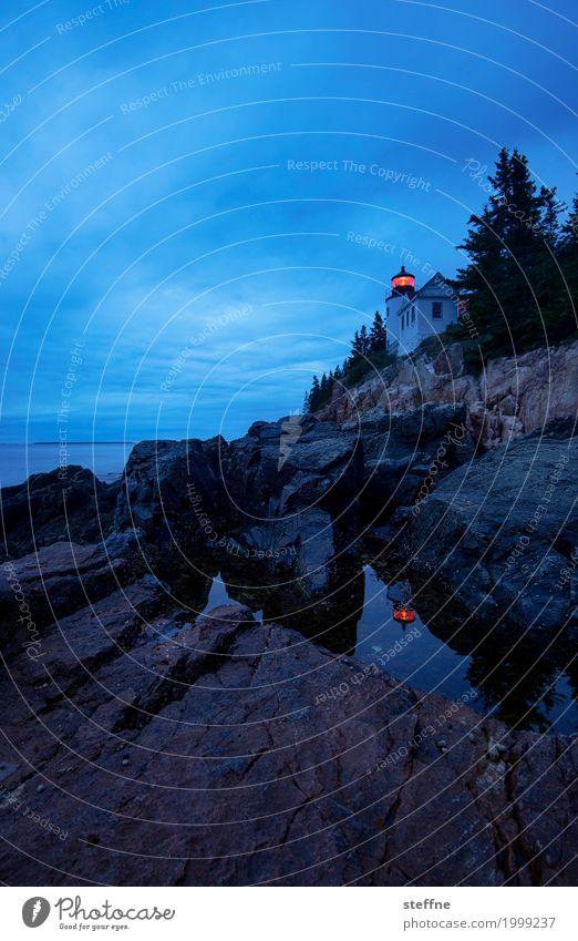 Around the World: Arcadia National Park Vacation & Travel Tourism Lighthouse Esthetic Travel photography Round trip around the world steffne Maine Dusk