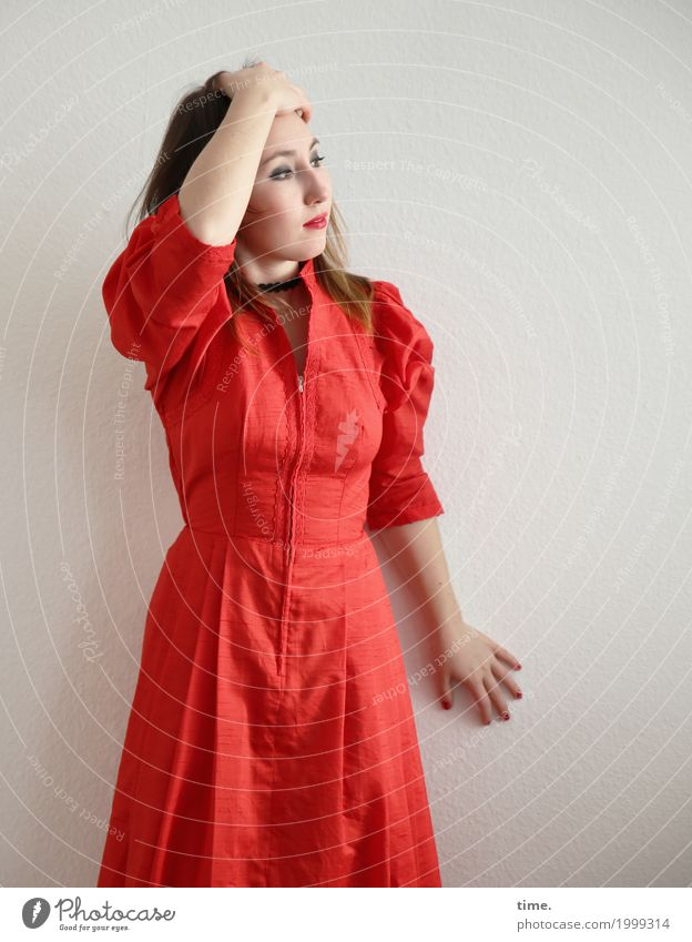 Human being Woman Beautiful Red Adults Feminine Time Esthetic Observe Dress Concentrate Inspiration Long-haired