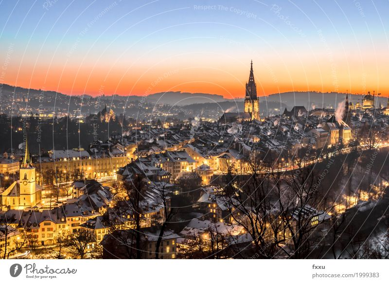 Berne Old Town, Long Exposure Canton Bern Switzerland Rose garden Building Downtown Swiss parliament Münster Capital city Old town Architecture Aare Chimney