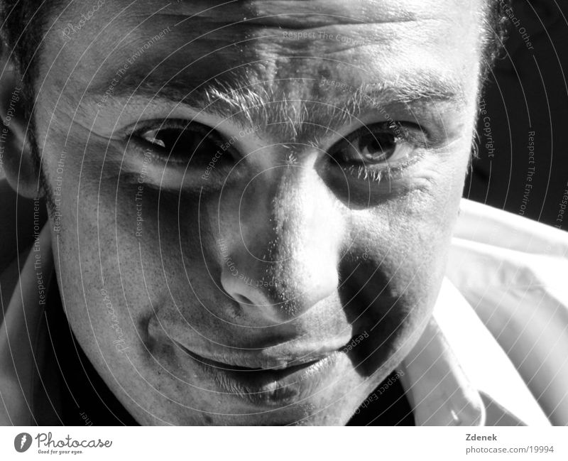 Retrospection into old times Elegant Sensitive Portrait photograph Think Man Eyes Timeless