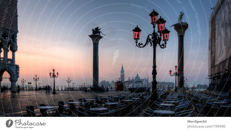 Ocean Blue City Summer Vacation & Travel Black Architecture Pink Café Table Empty Europe Places Tourism Chair Italy
