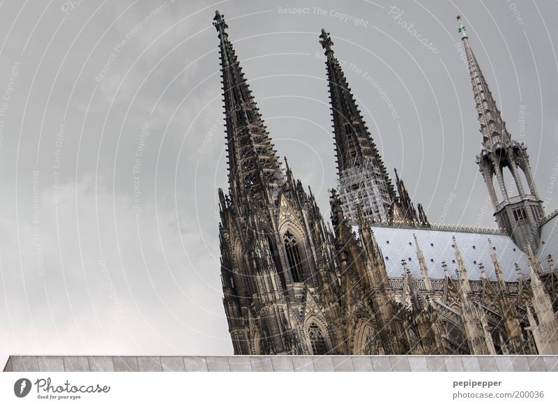 Cologne Young Elegant Vacation & Travel Tourism Trip Sightseeing City trip Summer Redecorate Work of art Storm clouds Old town Church Dome Manmade structures